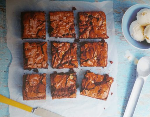 Triple Chocolate Chip Brownies