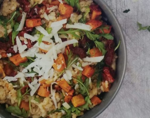 Risotto mit Spargelcreme